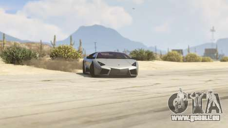 GTA 5 Lamborghini Reventon 7.1 droite vue latérale