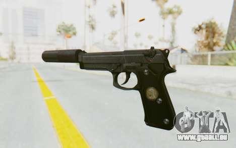 Tariq Iraqi Pistol Back v1 Black Silenced pour GTA San Andreas deuxième écran