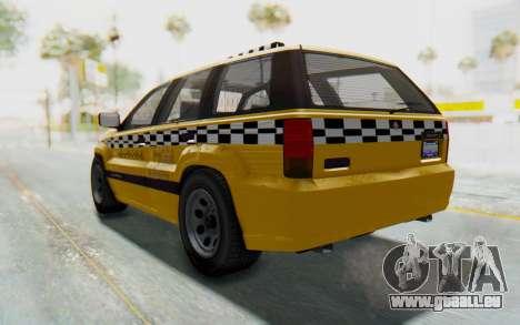 Canis Seminole Taxi pour GTA San Andreas sur la vue arrière gauche