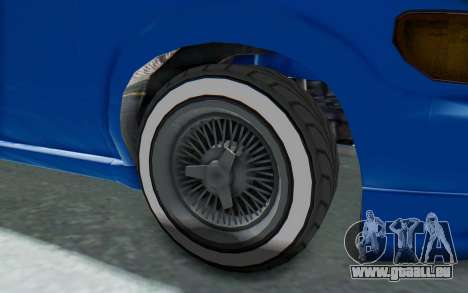 GTA 5 Vapid Minivan Custom für GTA San Andreas Rückansicht