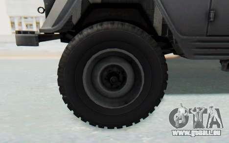UAZ-460Б pour GTA San Andreas vue arrière