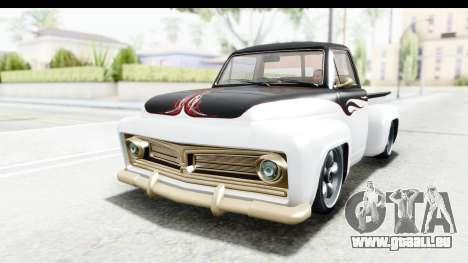 GTA 5 Vapid Slamvan Custom für GTA San Andreas Innenansicht