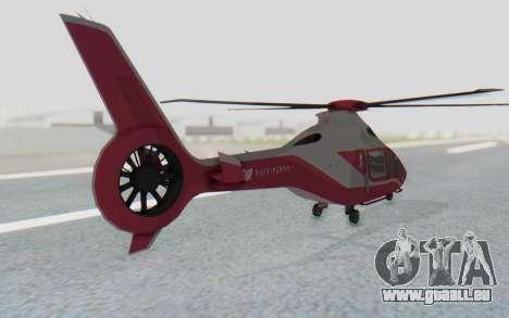 GTA 5 Buckingham Volatus v2 pour GTA San Andreas sur la vue arrière gauche