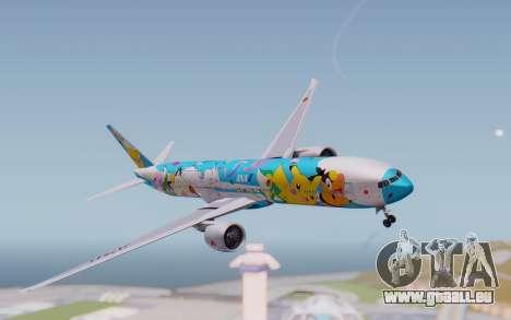 Boeing 777-300ER ZK-OKR für GTA San Andreas zurück linke Ansicht