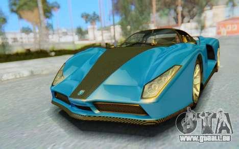GTA 5 Grotti Cheetah SA Lights pour GTA San Andreas laissé vue