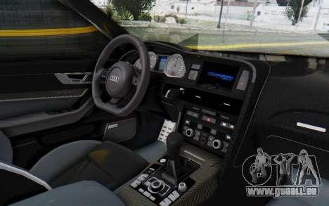 Audi RS6 pour GTA San Andreas vue intérieure