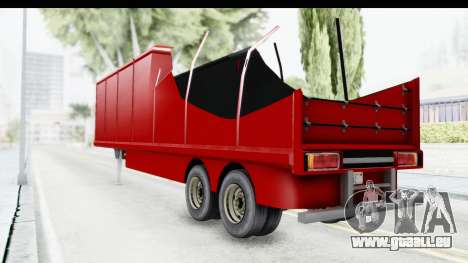 Renault Magnum TopGear Trailer für GTA San Andreas zurück linke Ansicht