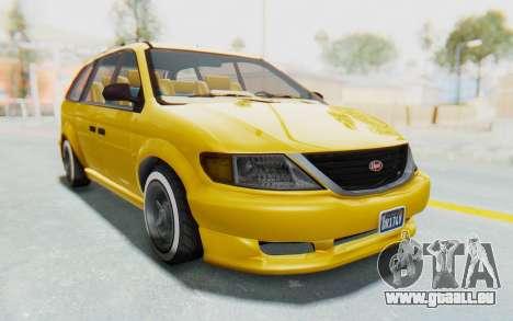 GTA 5 Vapid Minivan Custom IVF pour GTA San Andreas vue de droite