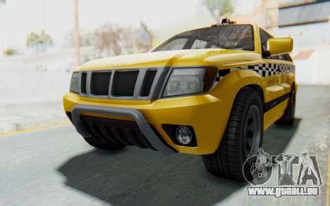 Canis Seminole Taxi für GTA San Andreas rechten Ansicht