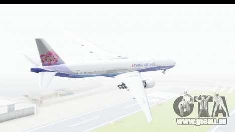 Boeing 777-300ER China Airlines Dreamliner pour GTA San Andreas laissé vue