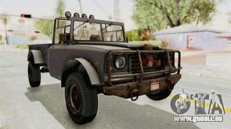 GTA 5 Canis Bodhi Trevor pour GTA San Andreas vue de droite