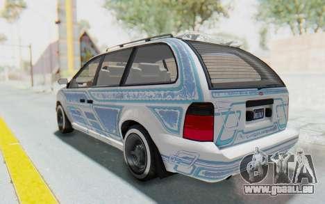 GTA 5 Vapid Minivan Custom without Hydro pour GTA San Andreas vue de dessus