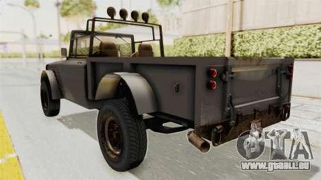 GTA 5 Canis Bodhi Trevor IVF pour GTA San Andreas sur la vue arrière gauche