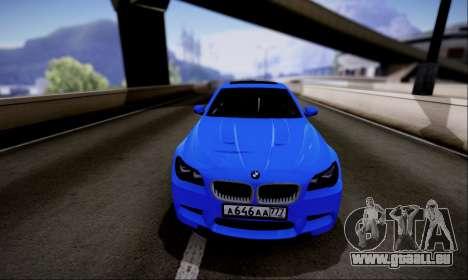BMW M5 F10 G-Power für GTA San Andreas zurück linke Ansicht
