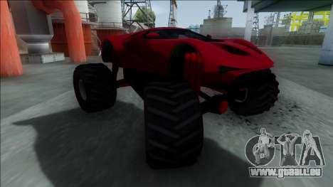 GTA V Vapid FMJ Monster Truck für GTA San Andreas linke Ansicht