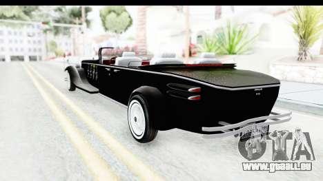 Unique V16 Phaeton VIP pour GTA San Andreas sur la vue arrière gauche