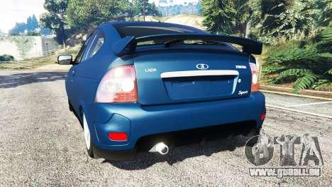 GTA 5 Lada Priora Sport Coupe v0.1 hinten links Seitenansicht