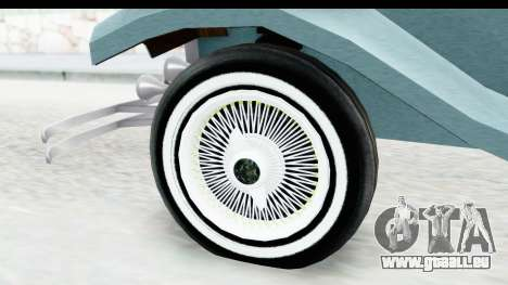 Unique V16 Fordor pour GTA San Andreas vue arrière