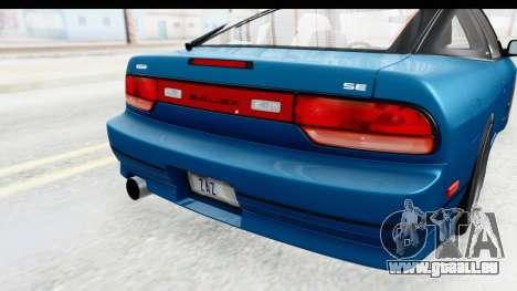Nissan 240SX 1989 v2 pour GTA San Andreas vue de côté