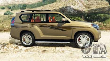 GTA 5 Toyota Land Cruiser Prado 2012 linke Seitenansicht