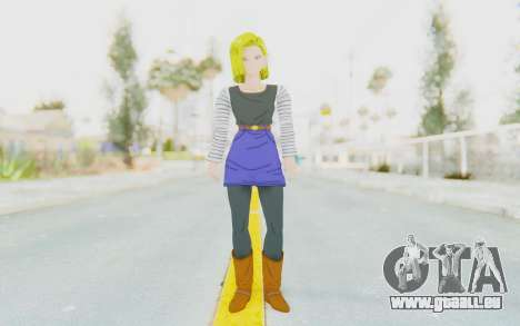 Dragon Ball Xenoverse Android 18 No Jacket für GTA San Andreas zweiten Screenshot