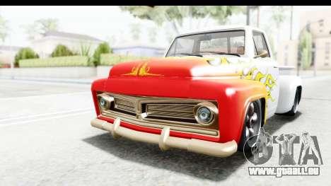 GTA 5 Vapid Slamvan Custom für GTA San Andreas obere Ansicht