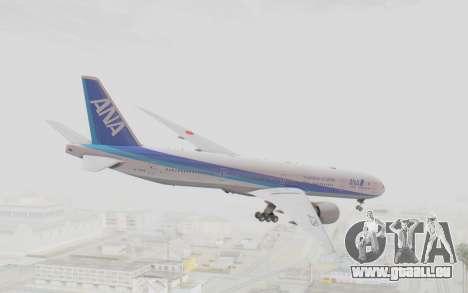 Boeing 777-300ER ANA JA735A für GTA San Andreas linke Ansicht