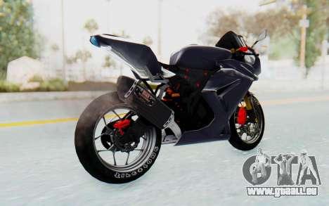 Kawasaki Ninja 250R Streetrace v2 pour GTA San Andreas laissé vue