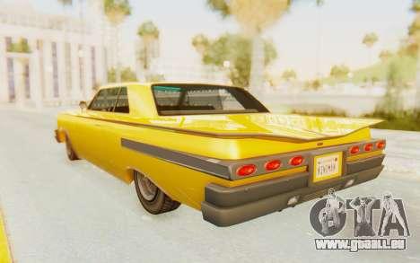 GTA 5 Declasse Voodoo PJ SA Lights pour GTA San Andreas laissé vue