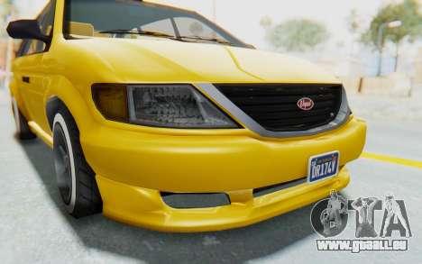 GTA 5 Vapid Minivan Custom IVF pour GTA San Andreas vue de côté