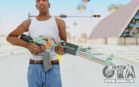 CS:GO - AK-47 Aquamarine Revenge pour GTA San Andreas troisième écran