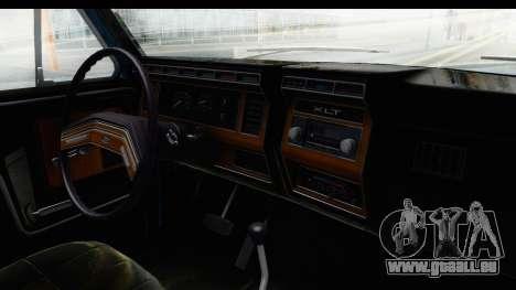 Ford Bronco 1980 Roof für GTA San Andreas Innenansicht