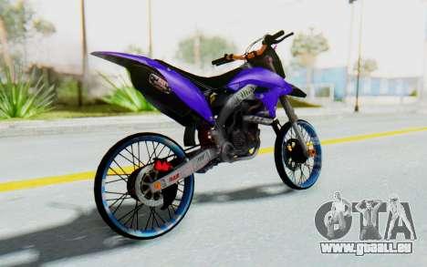 Kawasaki KLX150S Thailock Style für GTA San Andreas linke Ansicht