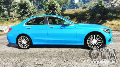 GTA 5 Mercedes-Benz C250 2014 linke Seitenansicht