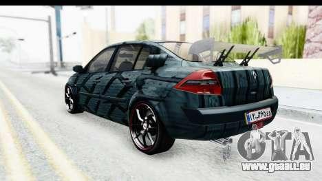 Renault Megane Sport pour GTA San Andreas sur la vue arrière gauche