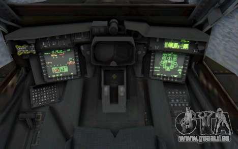 AH-64 Apache Desert pour GTA San Andreas vue de côté