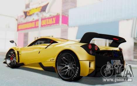 Pagani Huayra BC 2016 pour GTA San Andreas sur la vue arrière gauche
