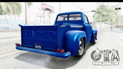 GTA 5 Vapid Slamvan Custom pour GTA San Andreas sur la vue arrière gauche