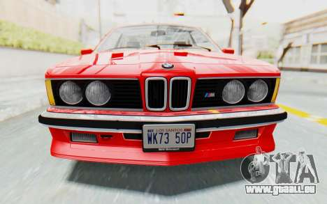 BMW M635 CSi (E24) 1984 IVF PJ2 pour GTA San Andreas vue de côté