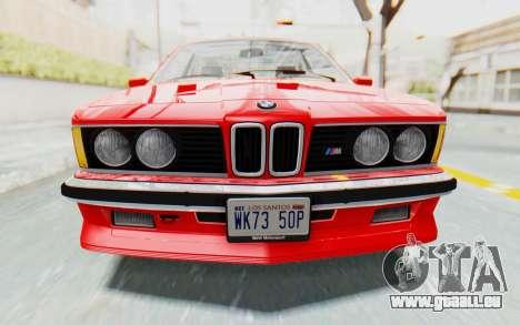 BMW M635 CSi (E24) 1984 IVF PJ2 für GTA San Andreas Seitenansicht