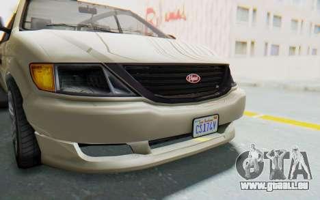 GTA 5 Vapid Minivan IVF pour GTA San Andreas vue de côté