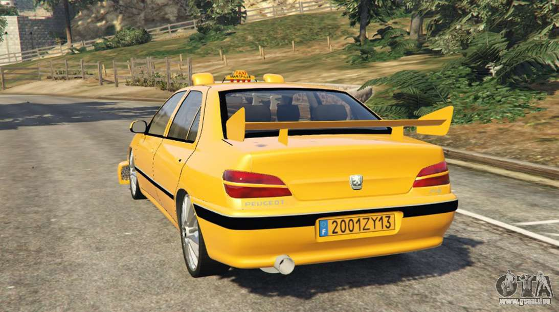 taxi peugeot 406 pour gta 5. Black Bedroom Furniture Sets. Home Design Ideas