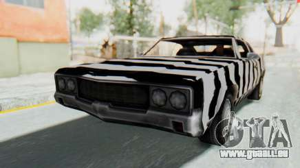 White Zebra Sabre Turbo pour GTA San Andreas