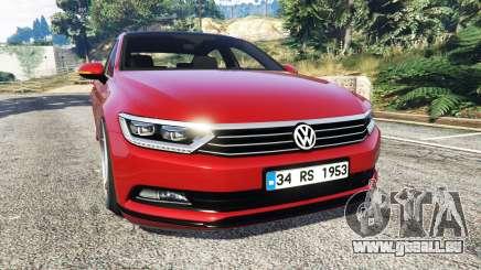 Volkswagen Passat Highline B8 2016 Stanced pour GTA 5