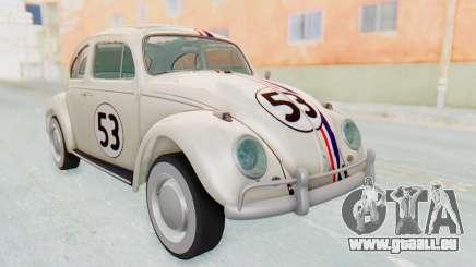 Volkswagen Beetle 1200 Type 1 1963 Herbie für GTA San Andreas