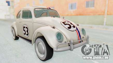 Volkswagen Beetle 1200 Type 1 1963 Herbie pour GTA San Andreas