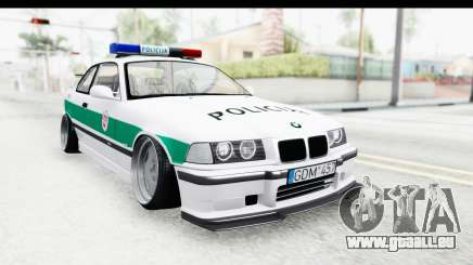 BMW M3 E36 Stance Lithuanian Police für GTA San Andreas