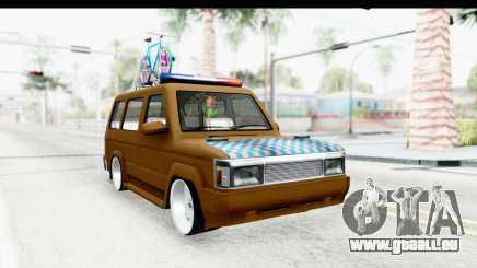 Toyota Kijang Grand Extra with Bike für GTA San Andreas