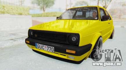 Volkswagen Golf Mk2 Lemon pour GTA San Andreas