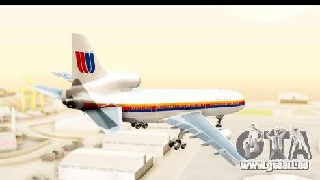 Lockheed L-1011-100 TriStar United Airlines pour GTA San Andreas vue de droite